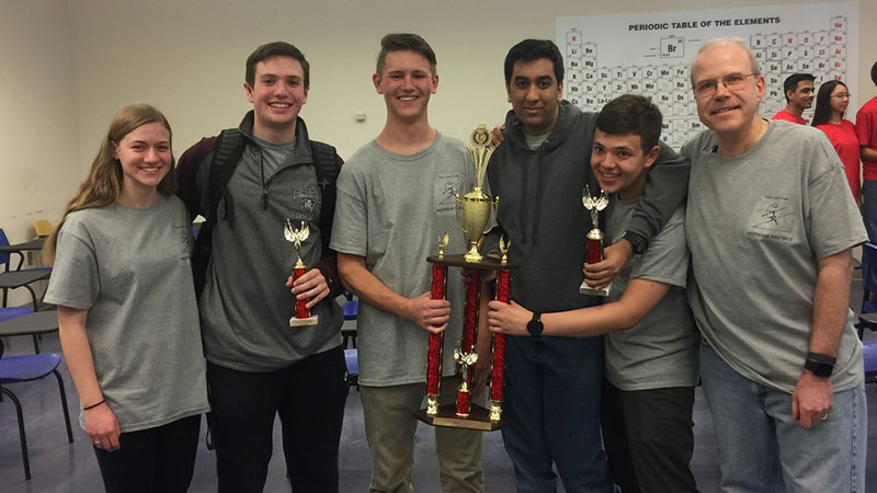 Mepham Physics Team Earns First Place at Olympics