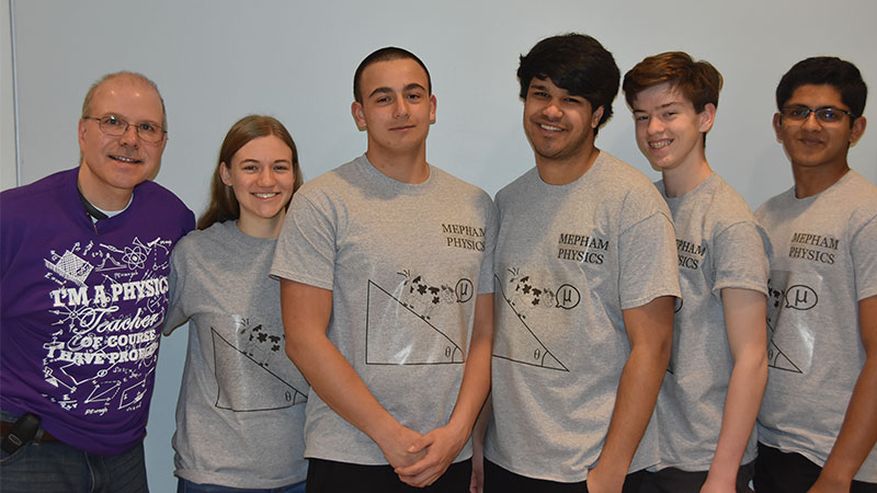 Mepham Team Wins Physics Bowl photo
