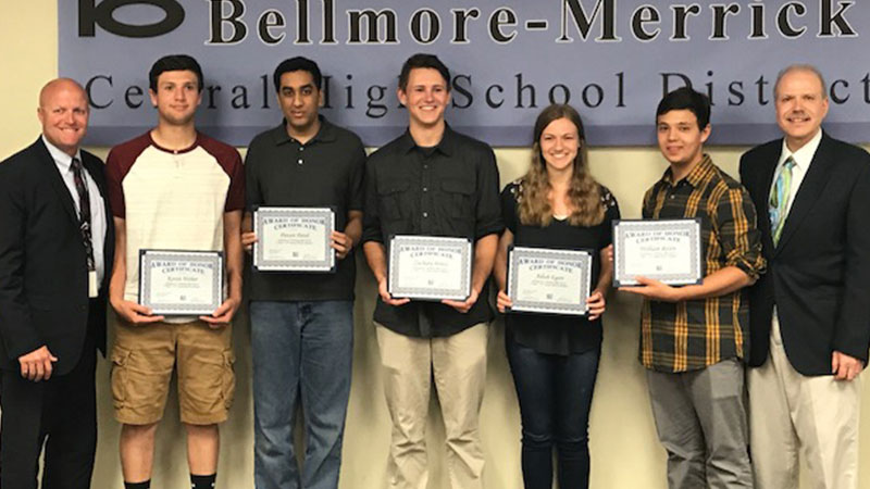 Board Honors Mepham Physics Team's First Place Win