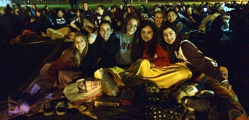 Mepham Holds Outdoor Movie Night