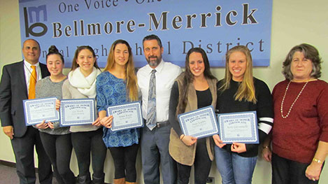 Lady Sharks Recognized at Board Meeting