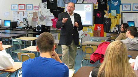 Town Councilman Means Business With Calhoun Students