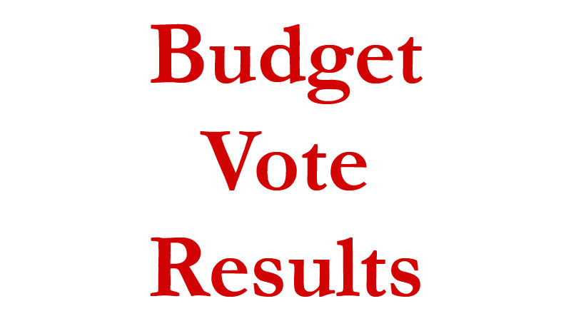 Budget Passes – A Message from the Superintendent of Schools