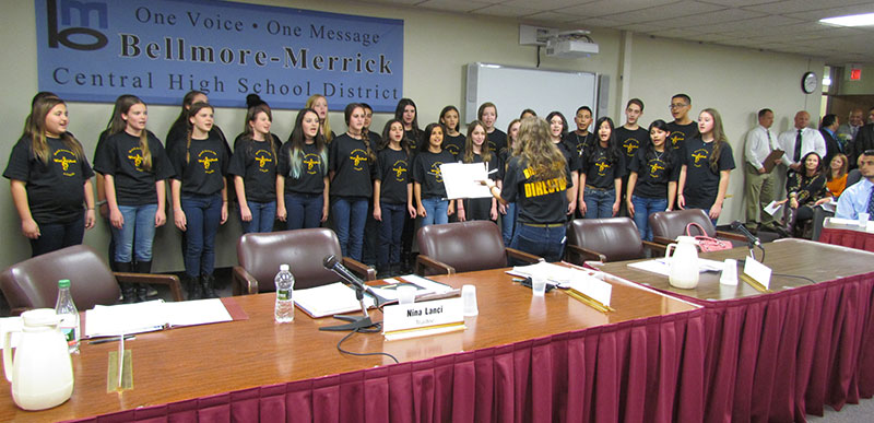 Board of Education Recognized by District Students